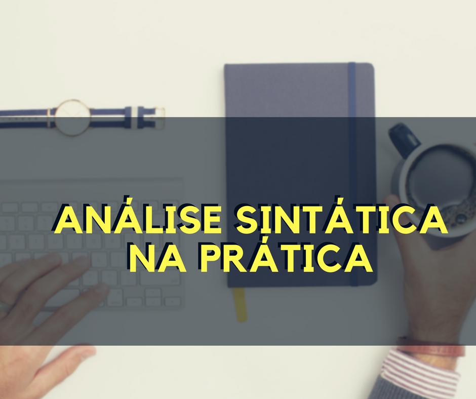 Análise sintática na prática
