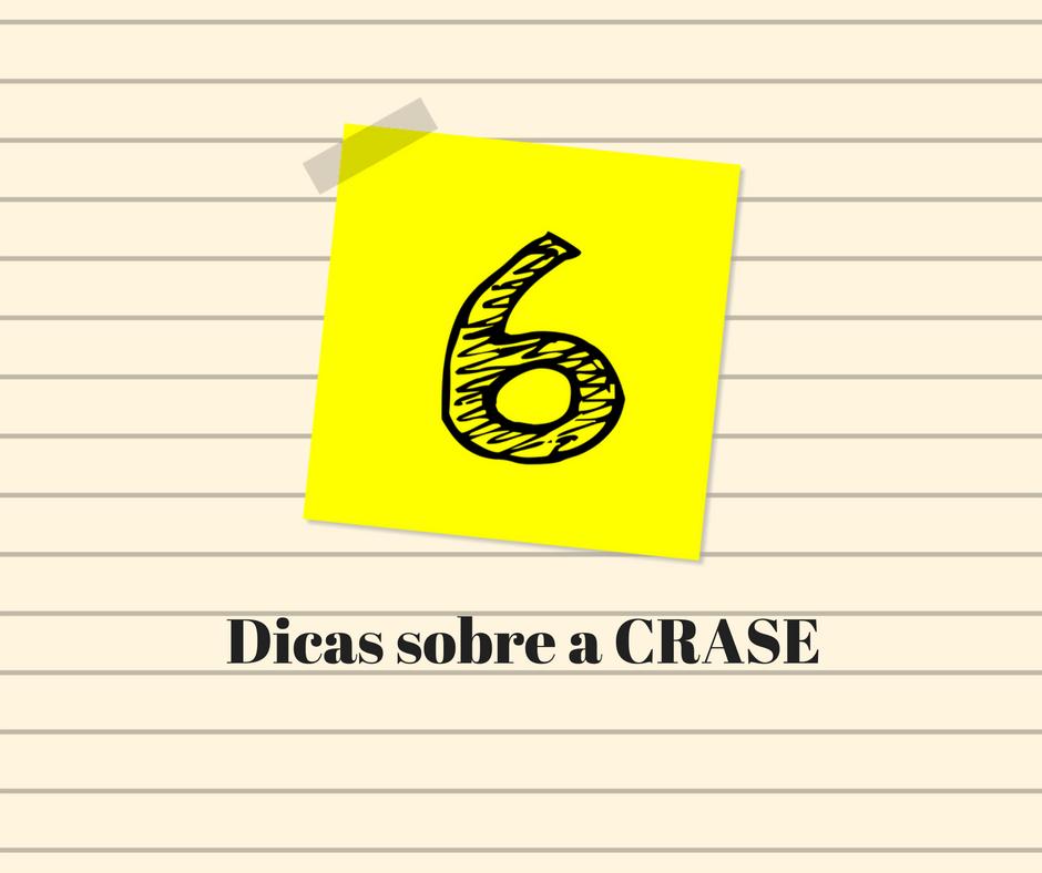 CRASE DICAS 6