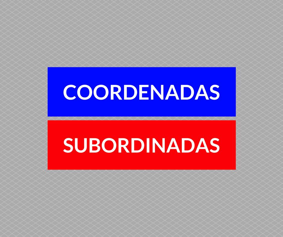 Coordenadas x subordinadas