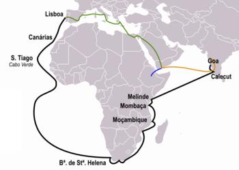 Vasco da Gama - mapa