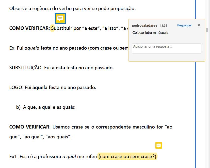 Exemplo de revisão no PDF