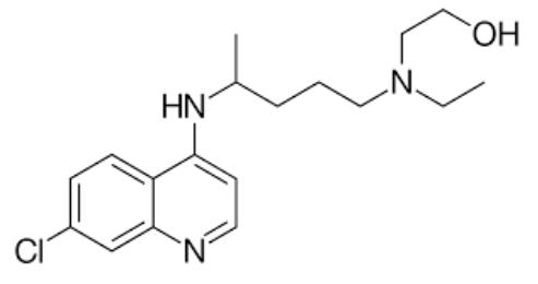 Imagem da composição da hidroxicloroquina.