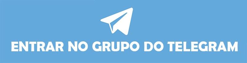 Botão do grupo do Telegram do Clube do Português.