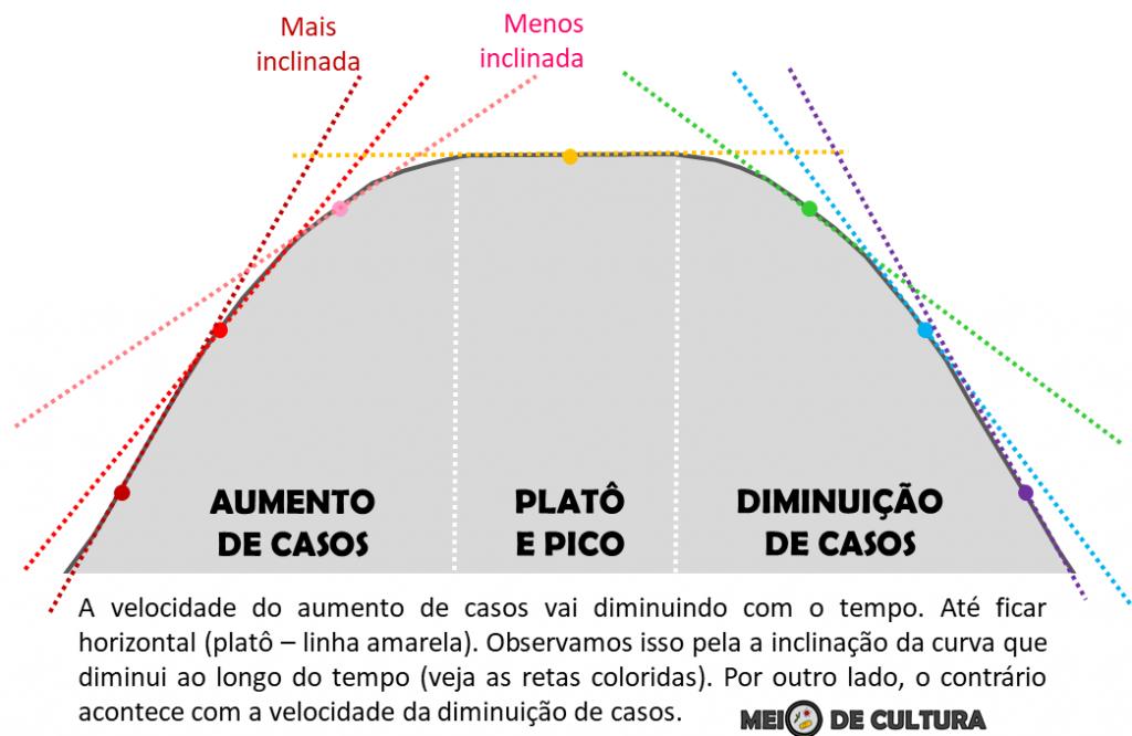 A imagem mostra um gráfica de curva com, indicando o platô.
