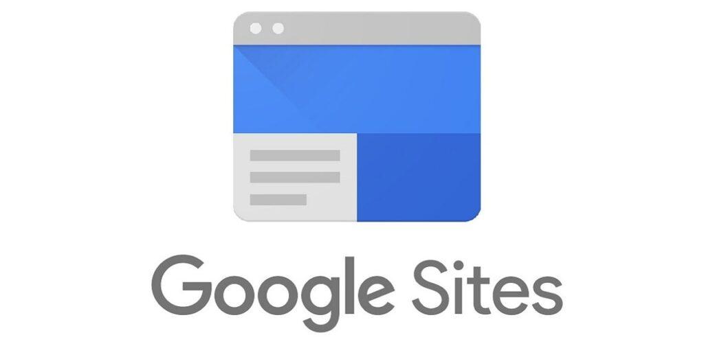 A ferramenta mostra a logo do Google Sites. No artigo, mostramos como utilizar esse recurso nos aulas de português.